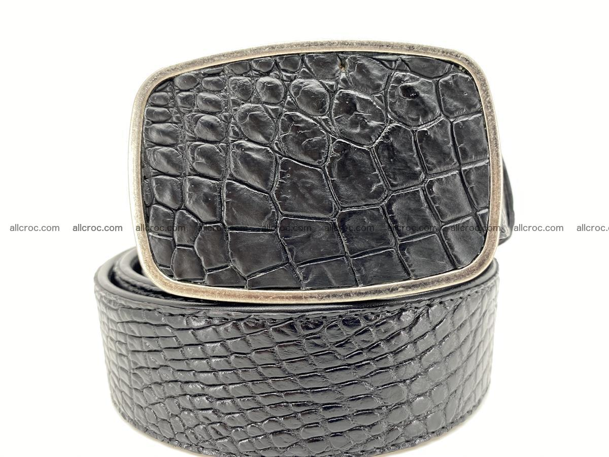Handcrafted Crocodile leather belt 787 Foto 0
