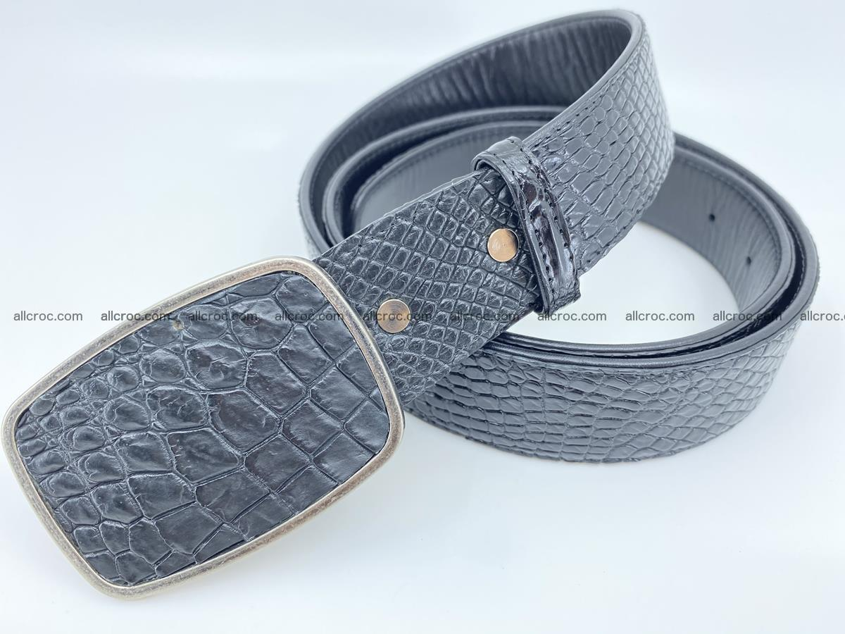 Handcrafted Crocodile leather belt 787 Foto 1