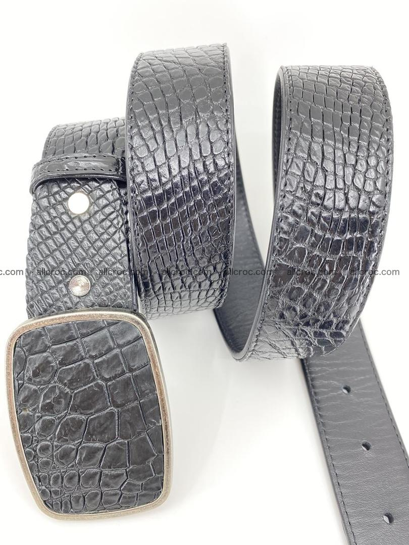 Handcrafted Crocodile leather belt 787 Foto 2
