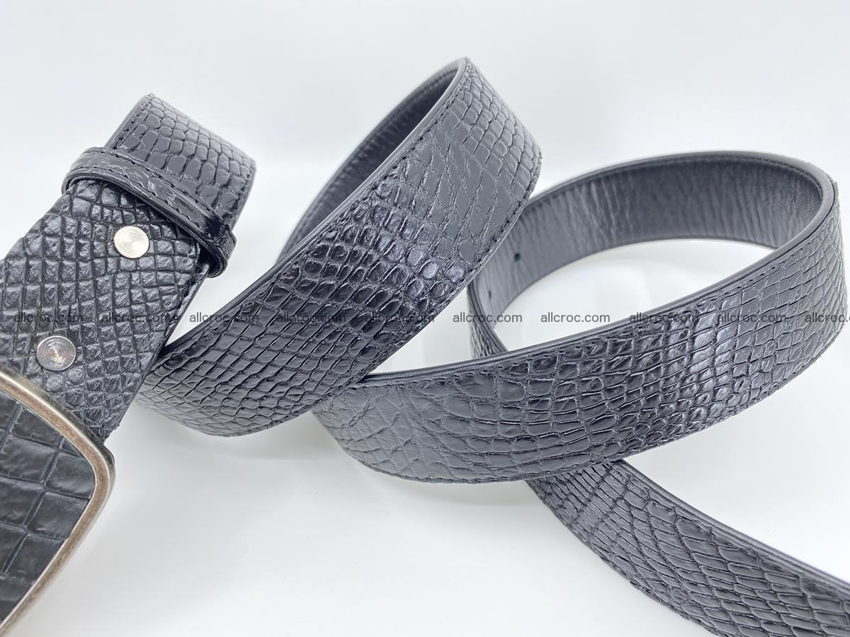 Handcrafted Crocodile leather belt 787 Foto 4