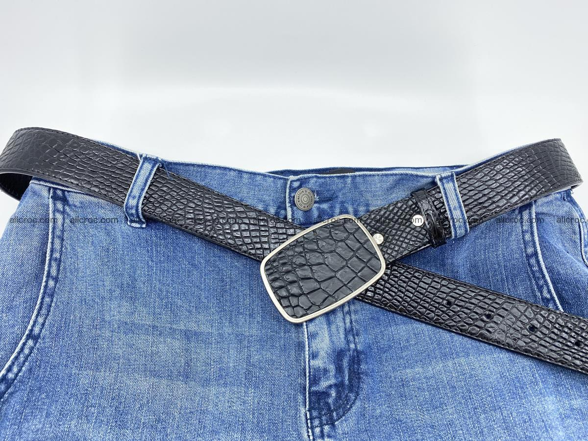 Handcrafted Crocodile leather belt 787 Foto 5