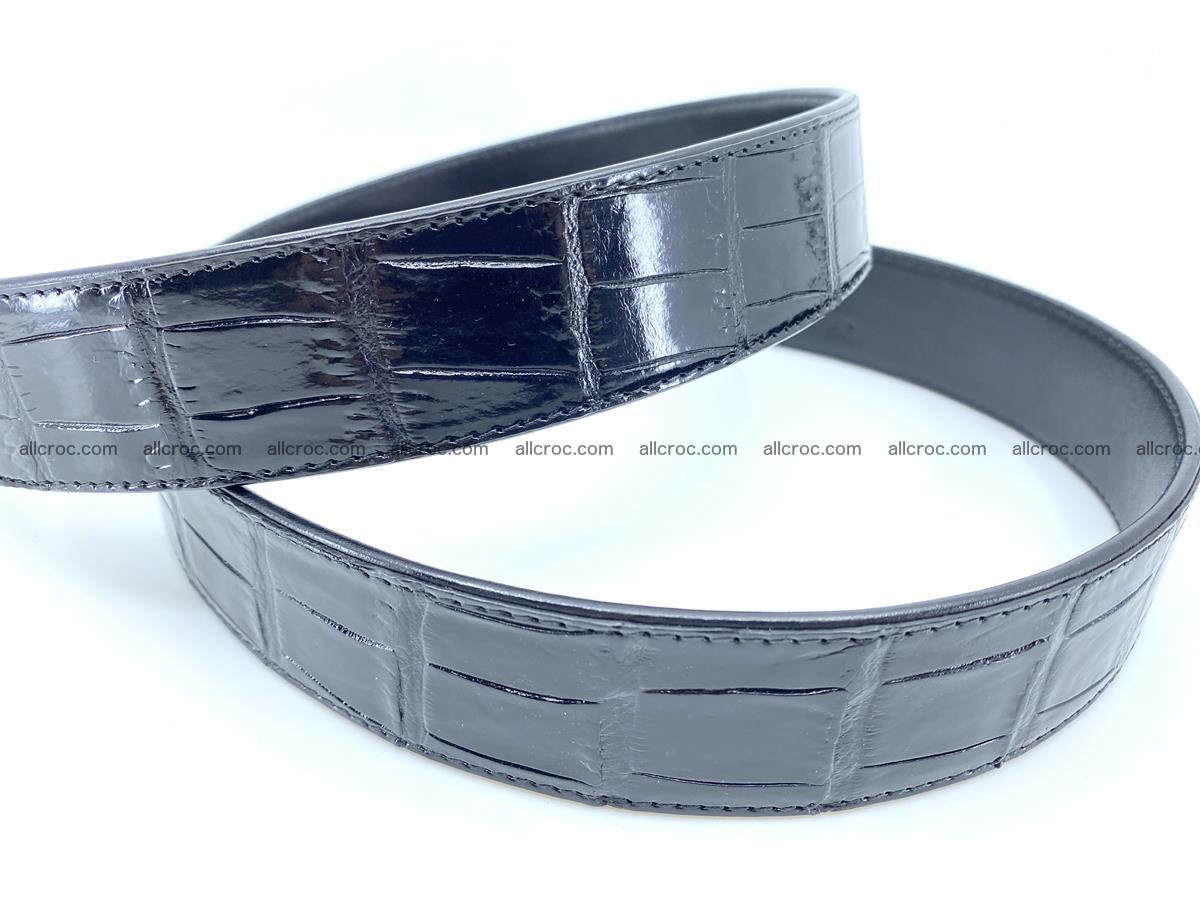 Handcrafted crocodile leather belt belly part 752 Foto 3