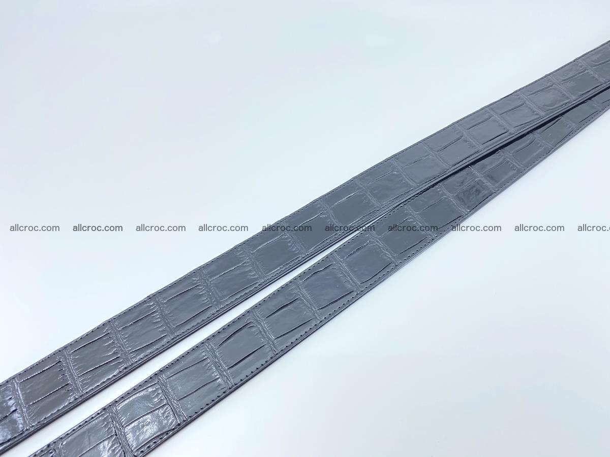 Handcrafted crocodile leather belt belly part 754 Foto 16