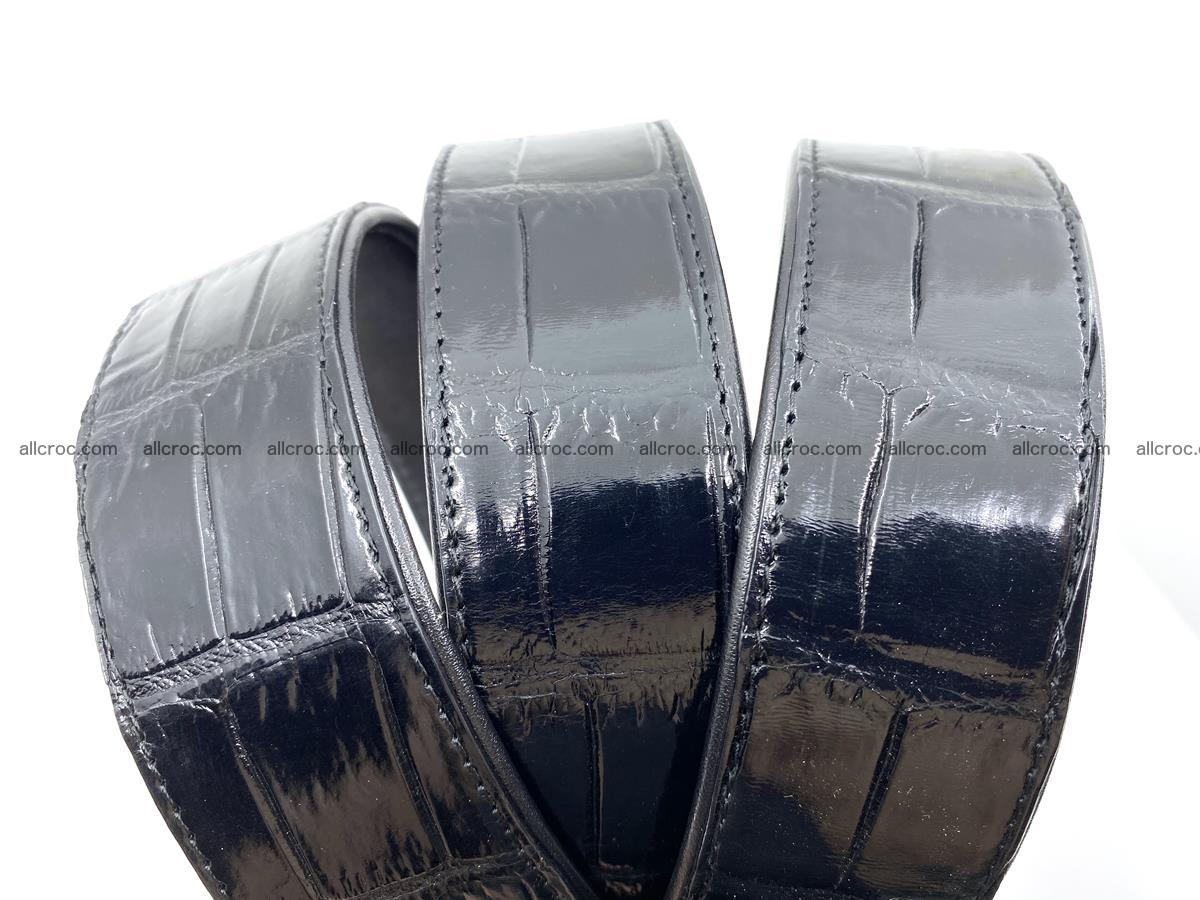 Handcrafted crocodile leather belt belly part 754 Foto 12