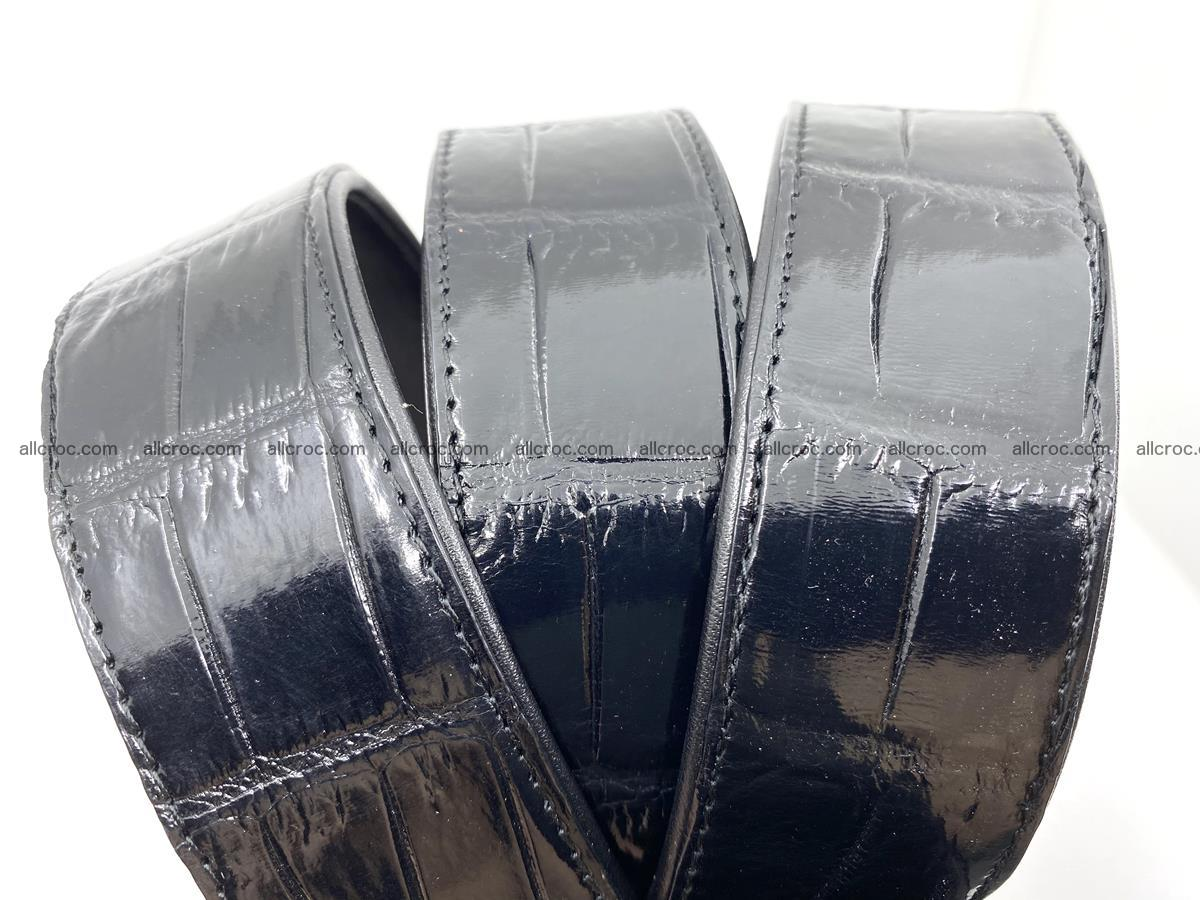 Handcrafted crocodile leather belt belly part 754 Foto 13
