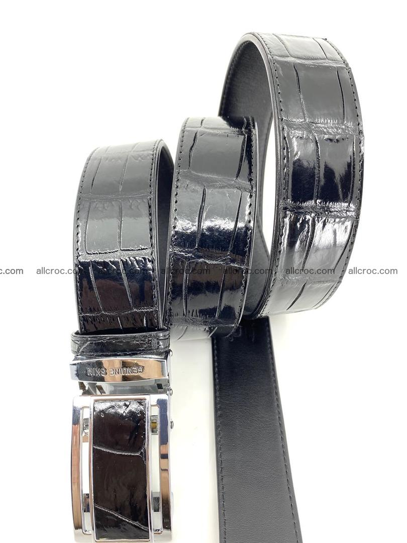 Handcrafted crocodile leather belt belly part 752 Foto 4