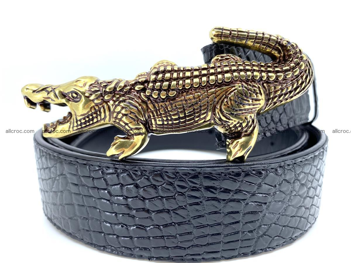 Handcrafted Crocodile leather belt 770 Foto 1