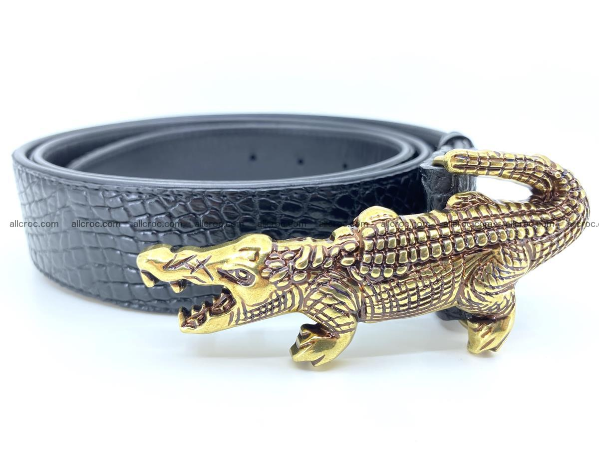 Handcrafted Crocodile leather belt 770 Foto 4