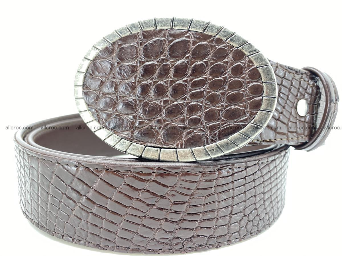 Handcrafted Crocodile leather belt 771 Foto 0