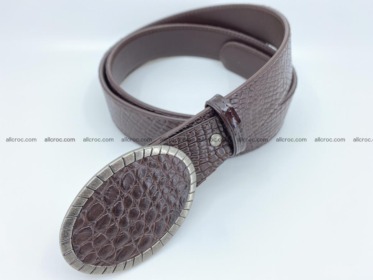 Handcrafted Crocodile leather belt 771 Foto 1