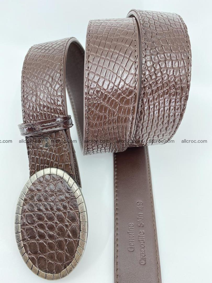 Handcrafted Crocodile leather belt 771 Foto 2