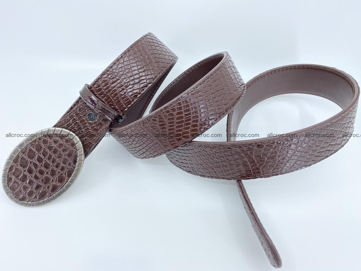 Handcrafted Crocodile leather belt 771 Foto 4