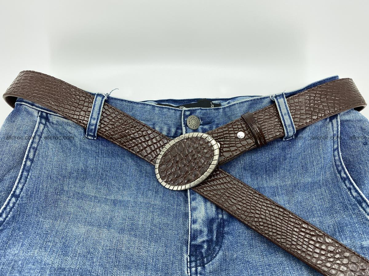 Handcrafted Crocodile leather belt 771 Foto 5