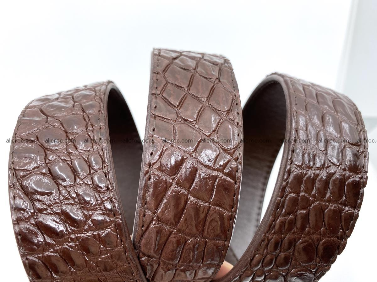 Handcrafted Crocodile leather belt 748 Foto 6