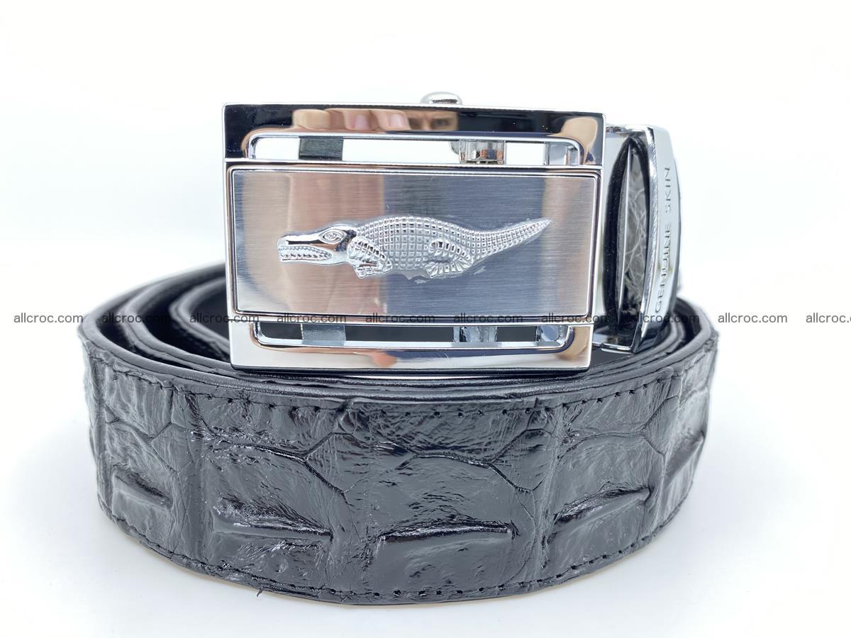 Handcrafted Crocodile leather hornback belt 743 Foto 0