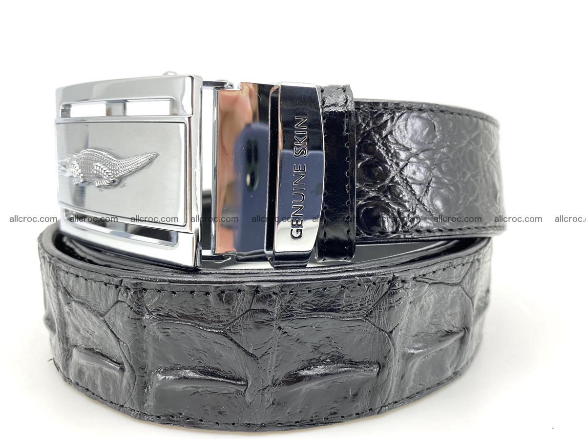 Handcrafted Crocodile leather hornback belt 743 Foto 1