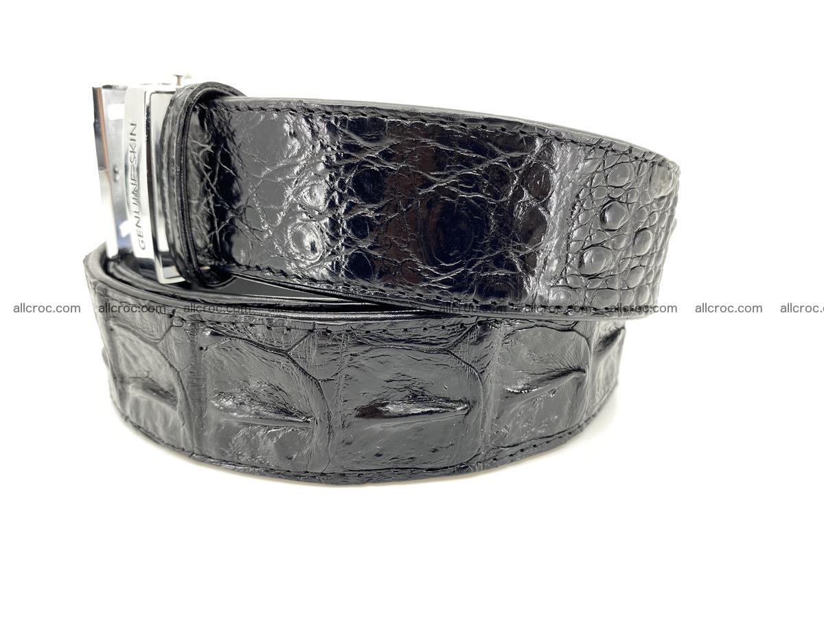 Handcrafted Crocodile leather hornback belt 743 Foto 2
