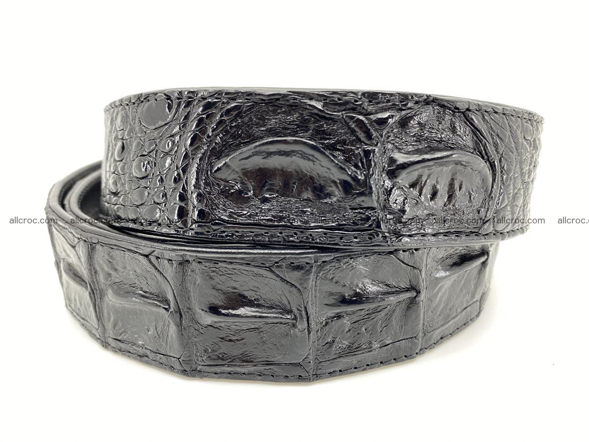 Handcrafted Crocodile leather hornback belt 743 Foto 3