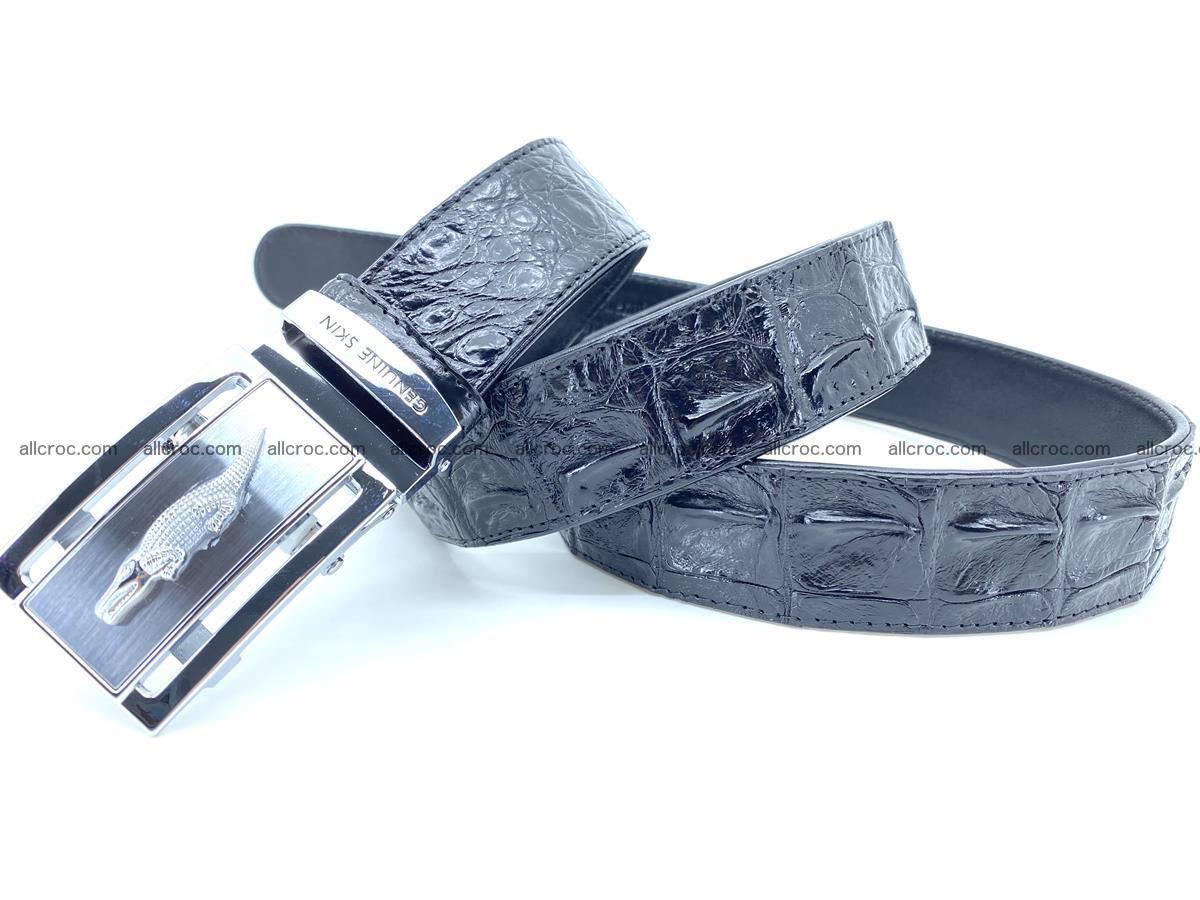 Handcrafted Crocodile leather hornback belt 743 Foto 6
