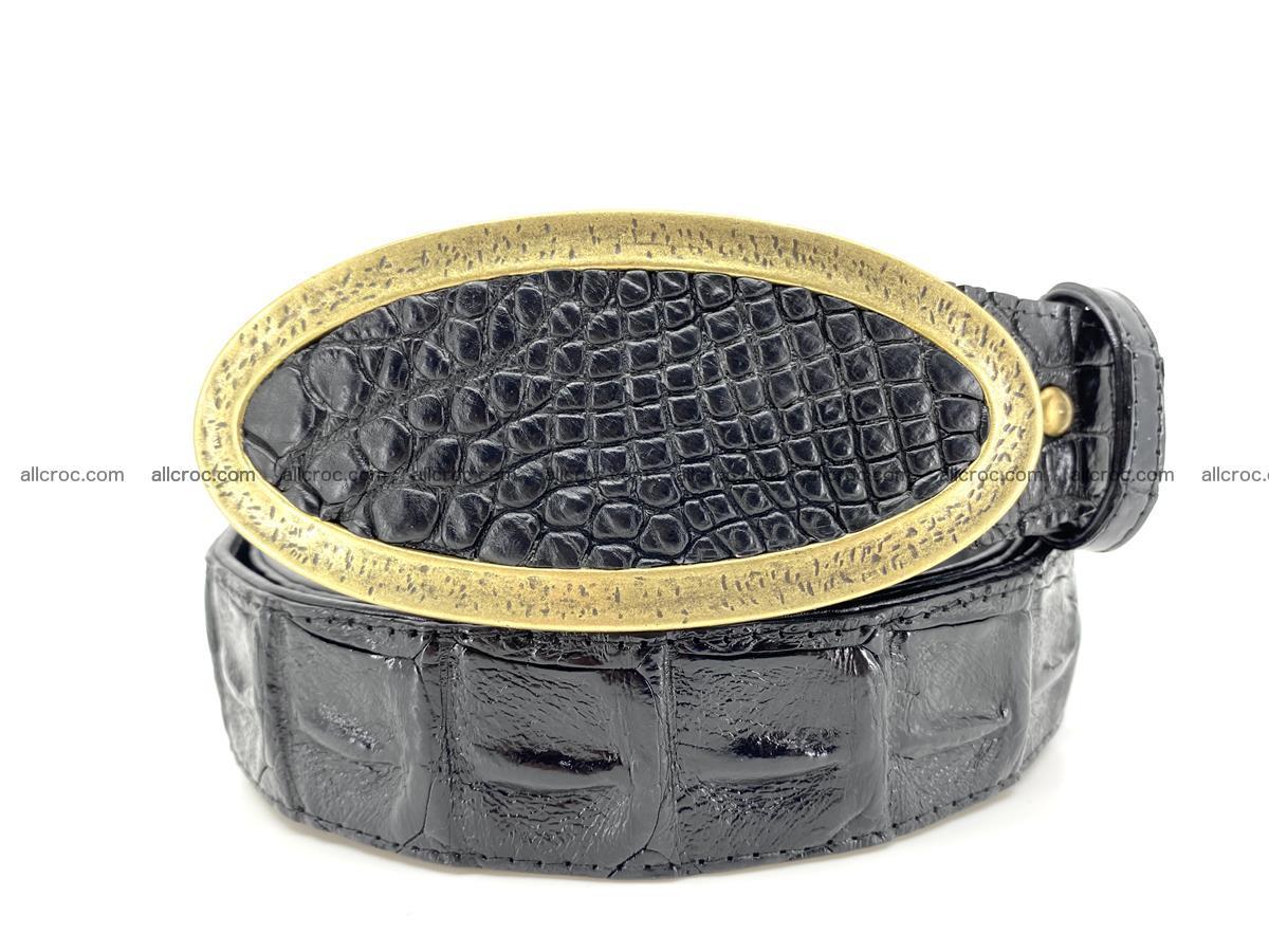 Handcrafted Crocodile leather hornback belt 801 Foto 0