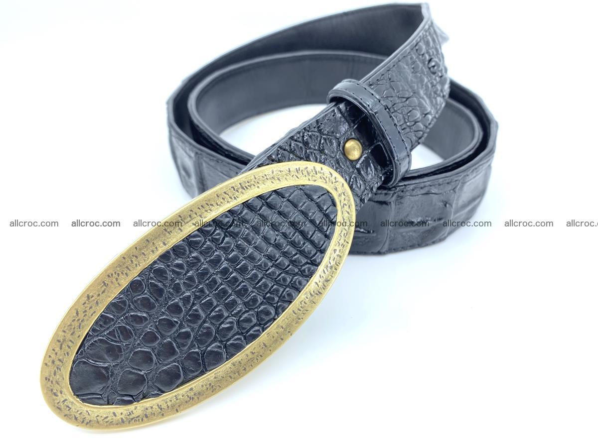 Handcrafted Crocodile leather hornback belt 801 Foto 1