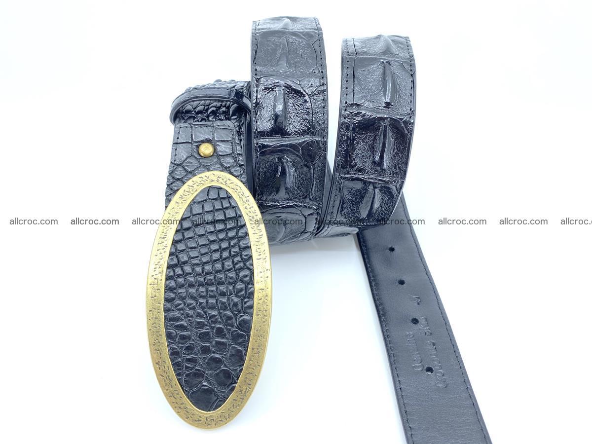 Handcrafted Crocodile leather hornback belt 801 Foto 2