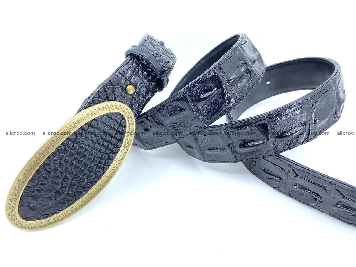 Handcrafted Crocodile leather hornback belt 801 Foto 3