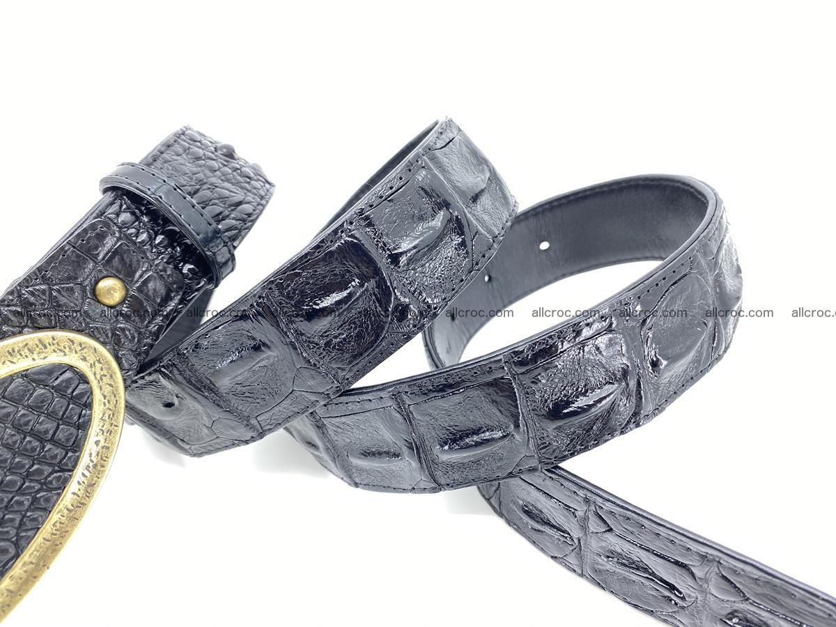 Handcrafted Crocodile leather hornback belt 801 Foto 4