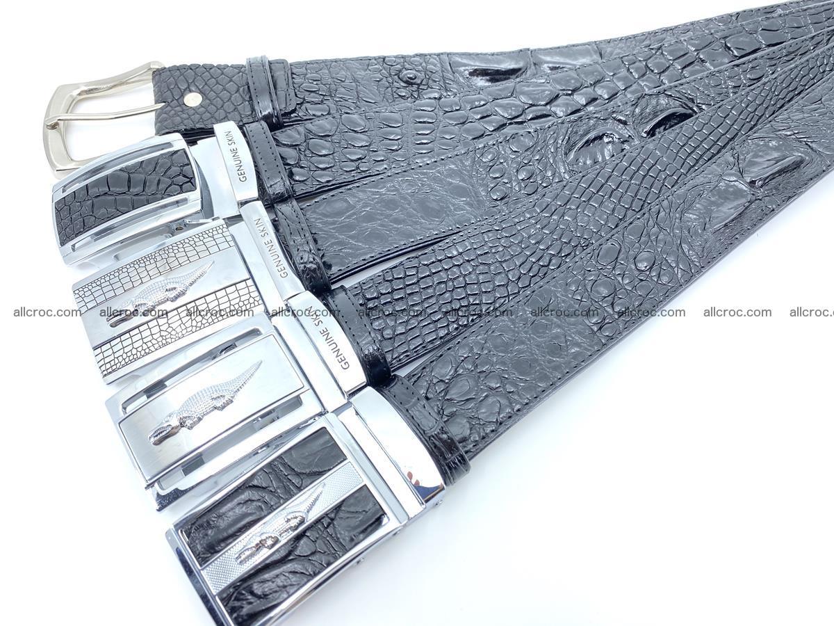 Handcrafted Crocodile leather hornback belt 743 Foto 10