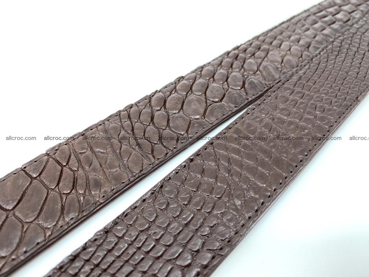 Handcrafted Crocodile leather belt 748 Foto 10