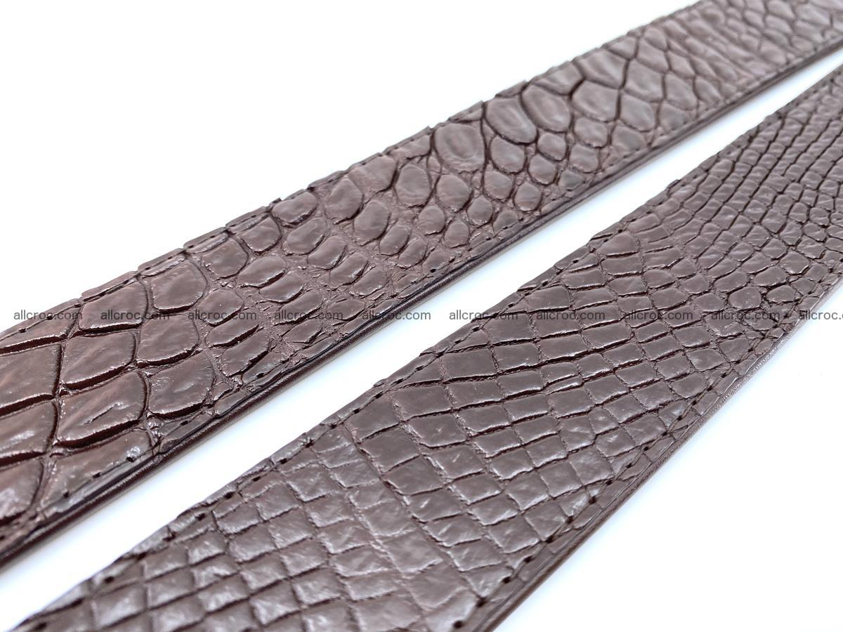 Handcrafted Crocodile leather belt 748 Foto 9