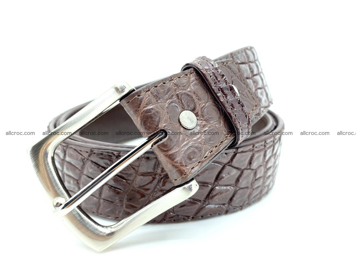 Handcrafted Crocodile leather belt 748 Foto 0