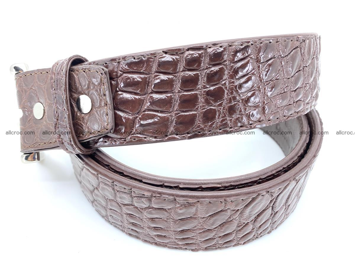 Handcrafted Crocodile leather belt 748 Foto 1