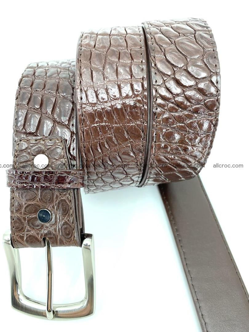 Handcrafted Crocodile leather belt 748 Foto 2