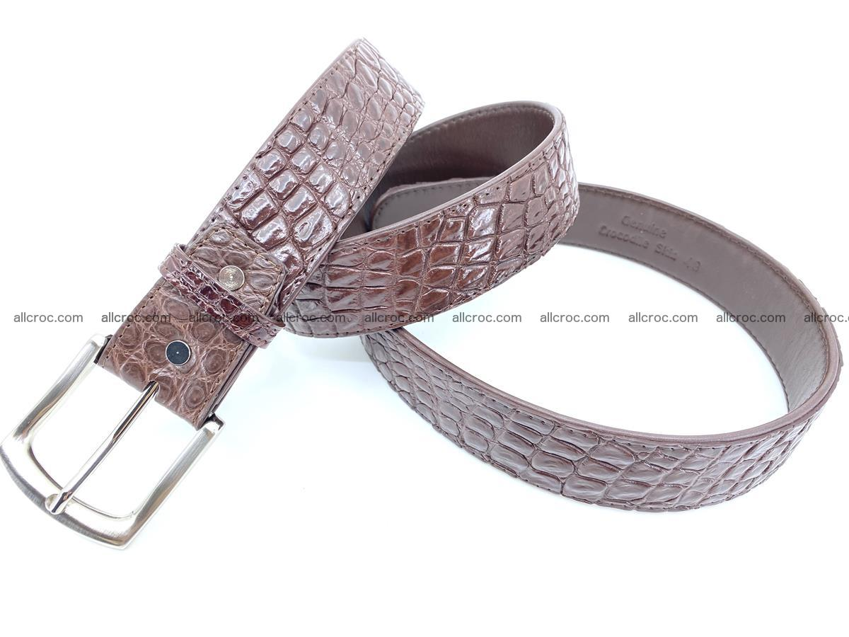 Handcrafted Crocodile leather belt 748 Foto 3