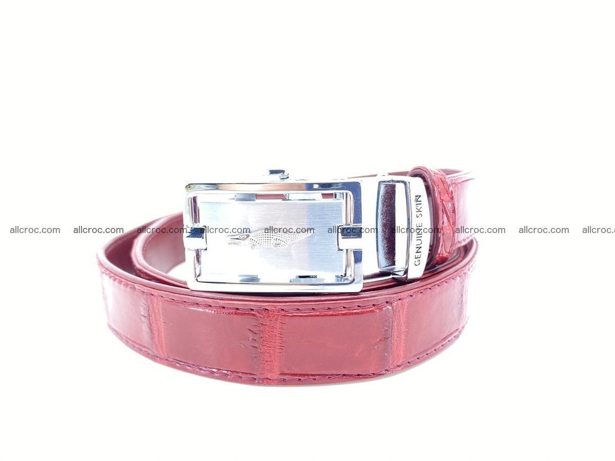 Handcrafted crocodile skin belt for women 843 Foto 0