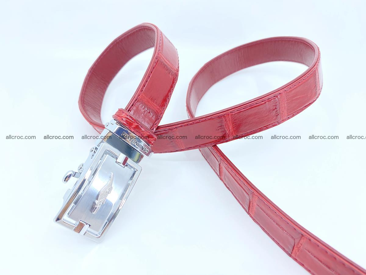 Handcrafted crocodile skin belt for women 843 Foto 3