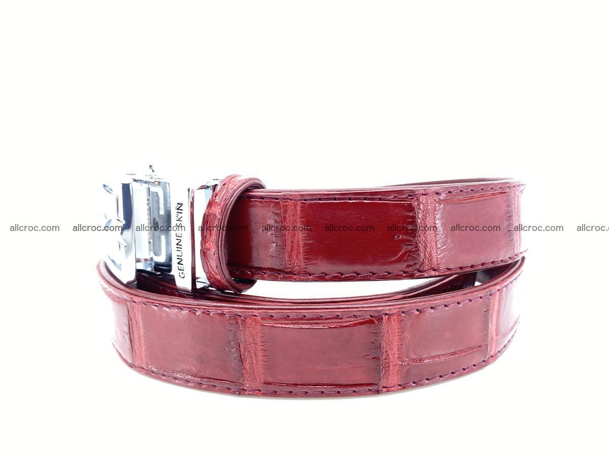 Handcrafted crocodile skin belt for women 843 Foto 2
