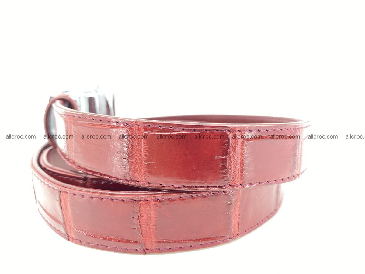 Handcrafted crocodile skin belt for women 843 Foto 1