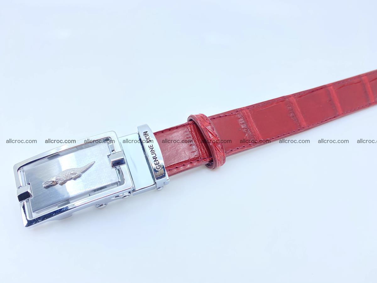 Handcrafted crocodile skin belt for women 843 Foto 5