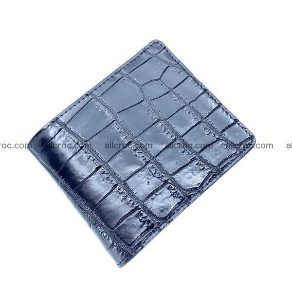 Handcrafted crocodile skin wallet 1202
