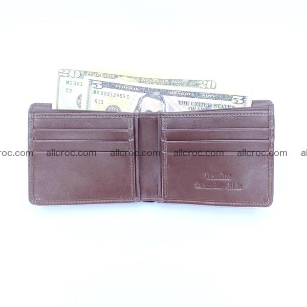 Handcrafted crocodile skin wallet 1201