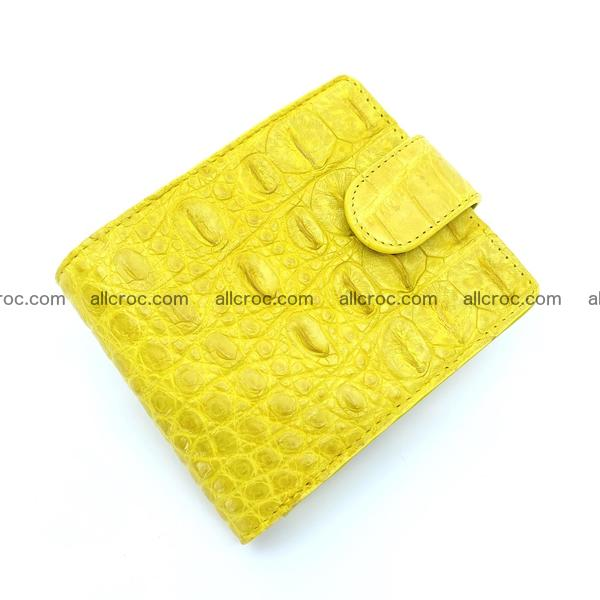 Handcrafted crocodile skin wallet 1195