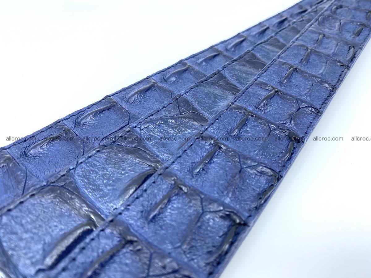 Handcrafted Crocodile leather hornback belt 745 Foto 16