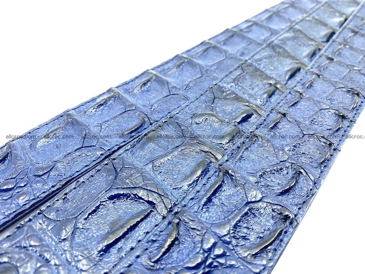 Handcrafted Crocodile leather hornback belt 745 Foto 17