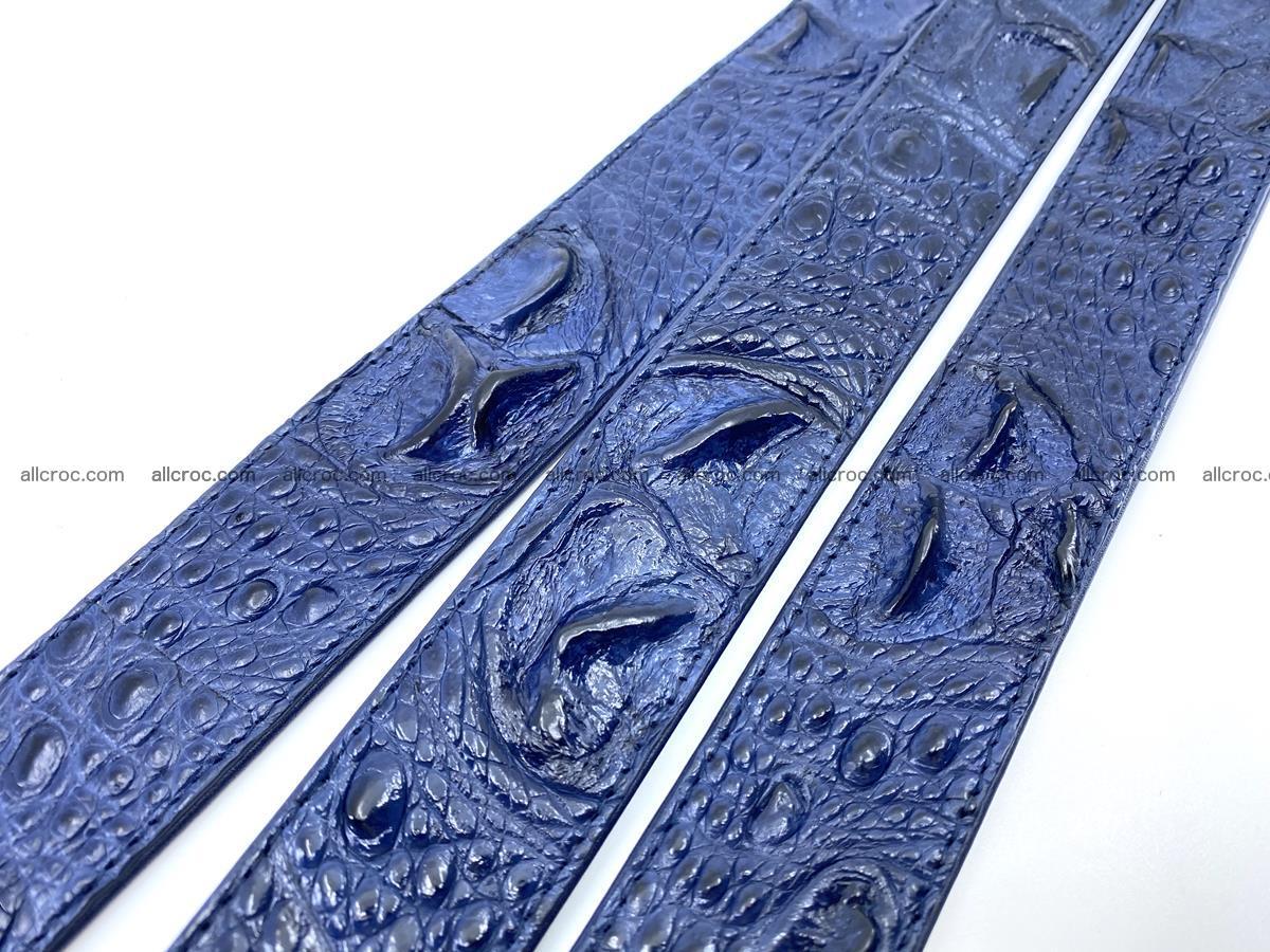 Handcrafted Crocodile leather hornback belt 745 Foto 15