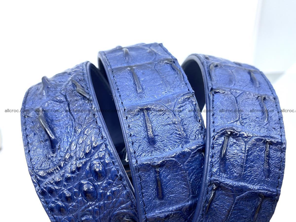 Handcrafted Crocodile leather hornback belt 745 Foto 12