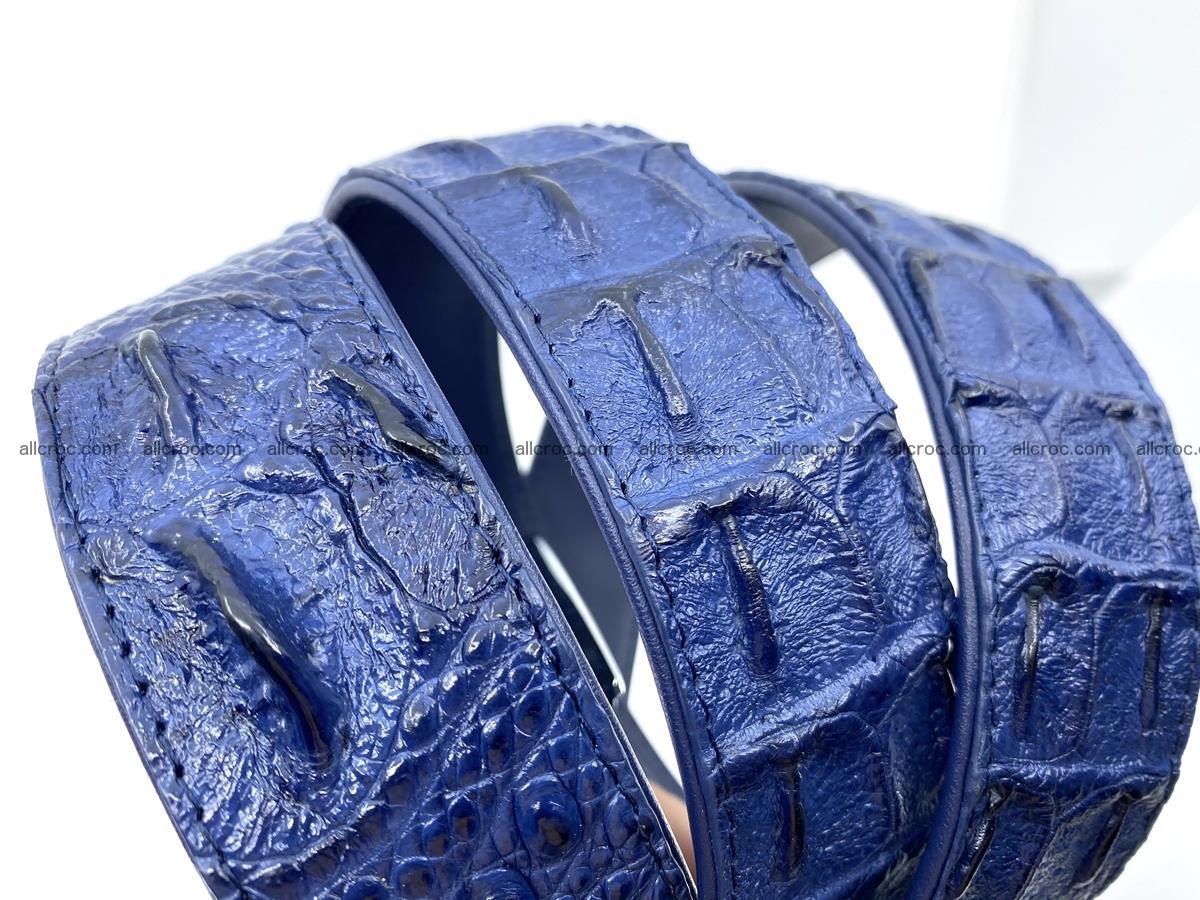 Handcrafted Crocodile leather hornback belt 745 Foto 14