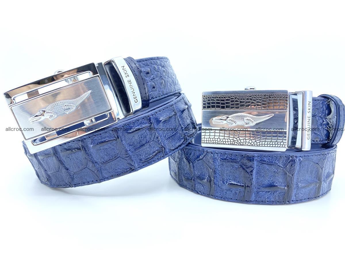 Handcrafted Crocodile leather hornback belt 745 Foto 1