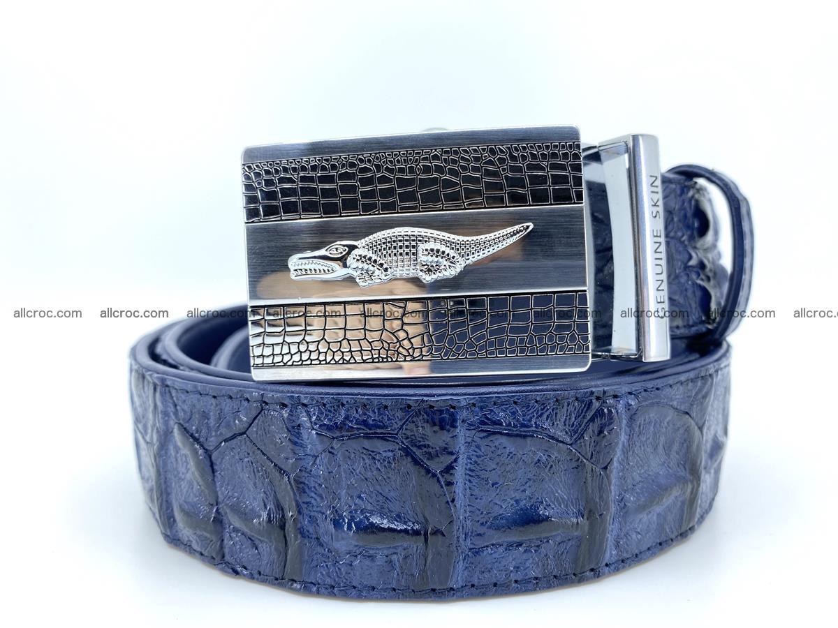 Handcrafted Crocodile leather hornback belt 745 Foto 0